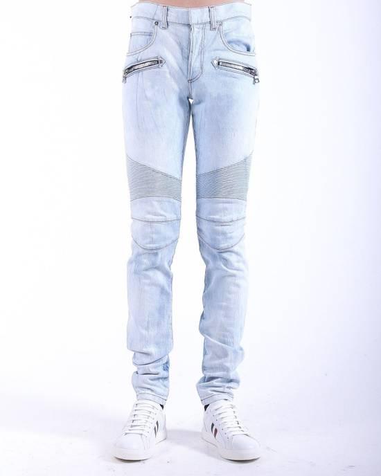 Balmain Balmain Light Blue Biker Skinny Authentic $950 Jeans Size 31 Size US 31