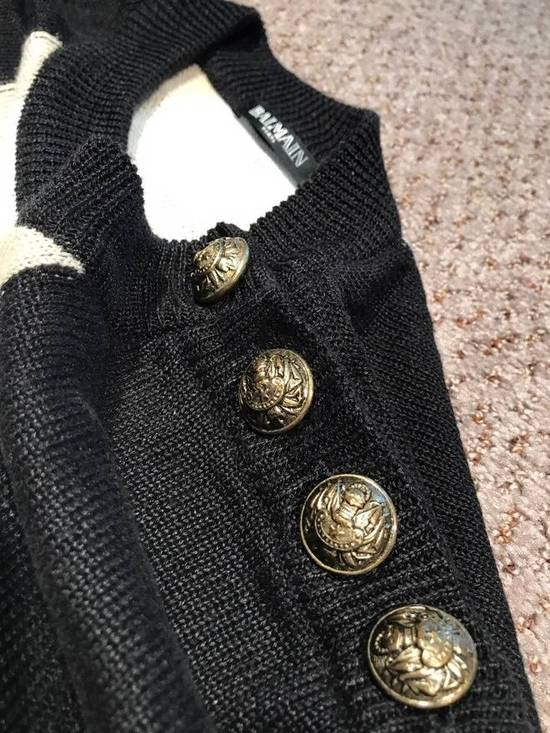 Balmain Union Jack Sweater beige/blk Size US XL / EU 56 / 4 - 8