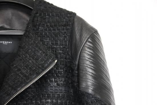 Givenchy $8k AW13 Givenchy Black Tweed & Leather Biker Jacket Size 48 Size US M / EU 48-50 / 2 - 1