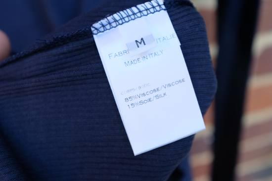 Balmain Blue Ribbed Knit Roll Neck T-shirt Size US M / EU 48-50 / 2 - 5