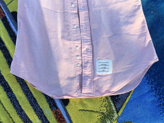 Thom Browne THOM BROWNE PINK OXFORD STRIPE SLEEVE FOUR WHITE BAR LONG SLEEVE SALMON PINK SIZE 2 Size US M / EU 48-50 / 2 - 3