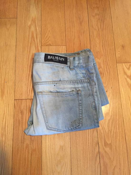 Balmain Balmain Sample Runway Distressed Denim Blue Dark Wash Size US 30 / EU 46