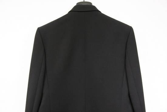 Balmain RARE $4k+ SS12 Balmain Black Perforated Leather Peak Lapel Jacket Blouson 50 48 Size 40R - 6