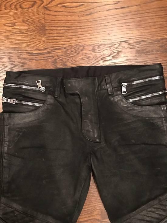 Balmain Balmain Black Waxed Biker Denim Jeans Size US 34 / EU 50 - 1