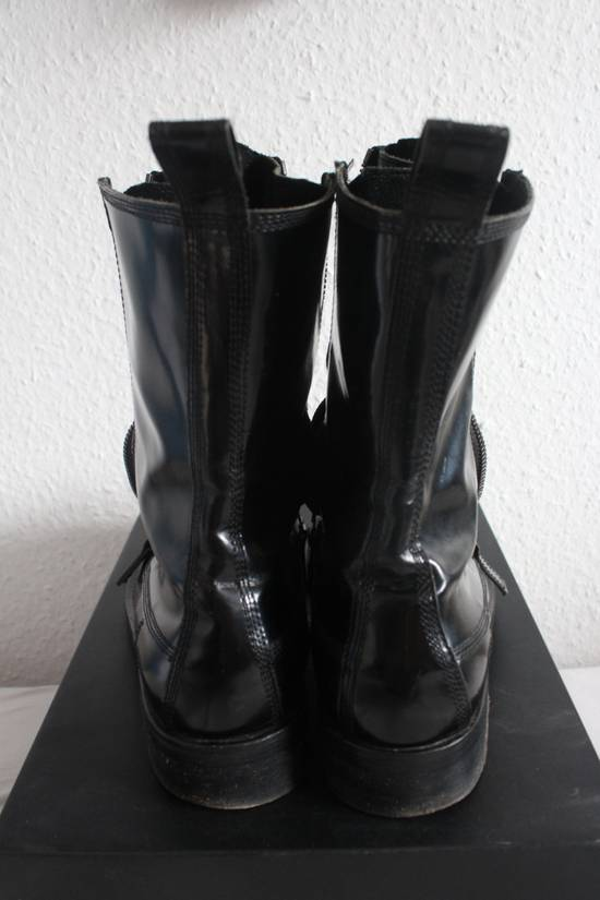 Balmain FW10 Campaign Patent Leather Ranger Boots Decarnin Size US 11 / EU 44 - 7