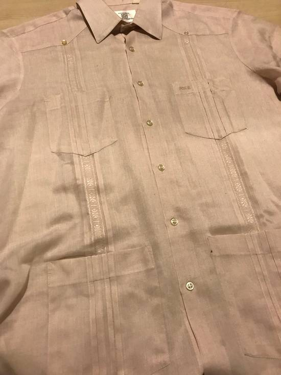 Givenchy Linen Pink Short Sleeve Button Up Size US L / EU 52-54 / 3 - 3