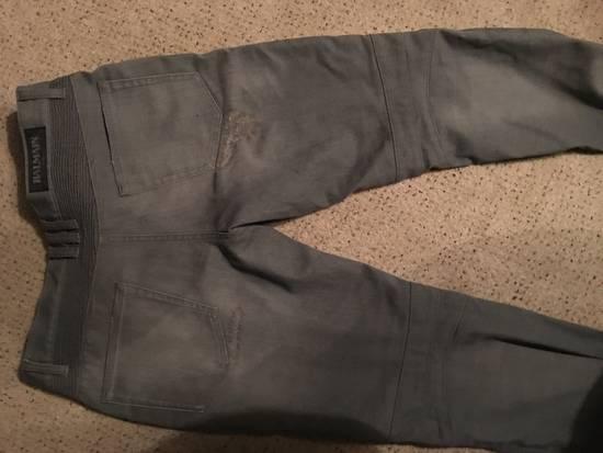 Balmain Balmain grey biker jeans Size US 34 / EU 50 - 3