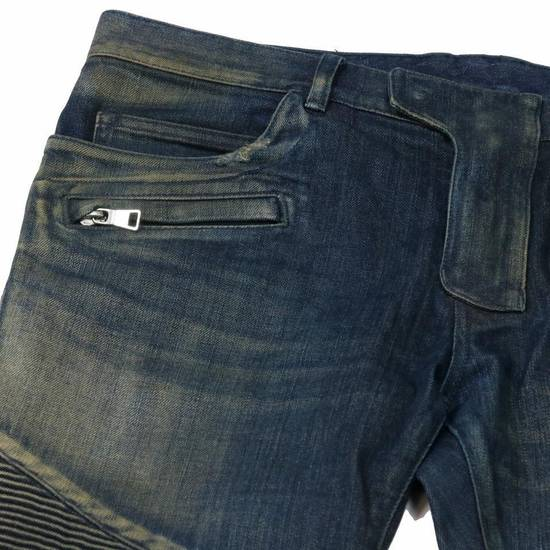 Balmain Balmain Mens Distressed Biker Moto Jeans Sz. 34 T551 C306 Size US 34 / EU 50 - 3