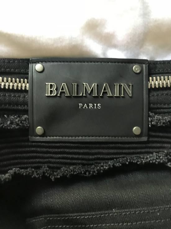 Balmain SS18 Ribbed Biker Jeans Size US 30 / EU 46 - 1