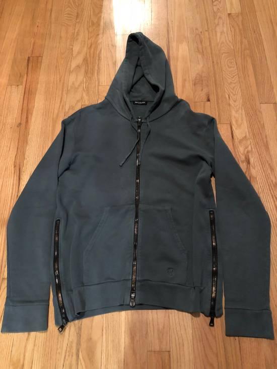 Balmain Balmain Sweatshirt Zip Up Slate Grey Aqua Blue Size US L / EU 52-54 / 3