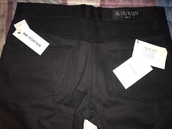 Balmain Skinny-Fit Denim Biker Jeans Size US 31 - 2