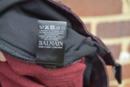 Balmain Bordeaux Waxed Biker Jeans Size US 34 / EU 50 - 7