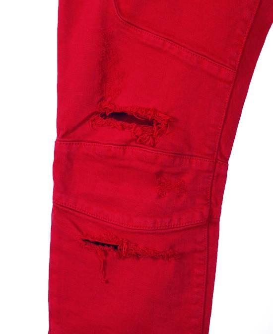 Balmain Original Balmain Distressed Red Men Biker Jeans in size 32 Size US 32 / EU 48 - 6