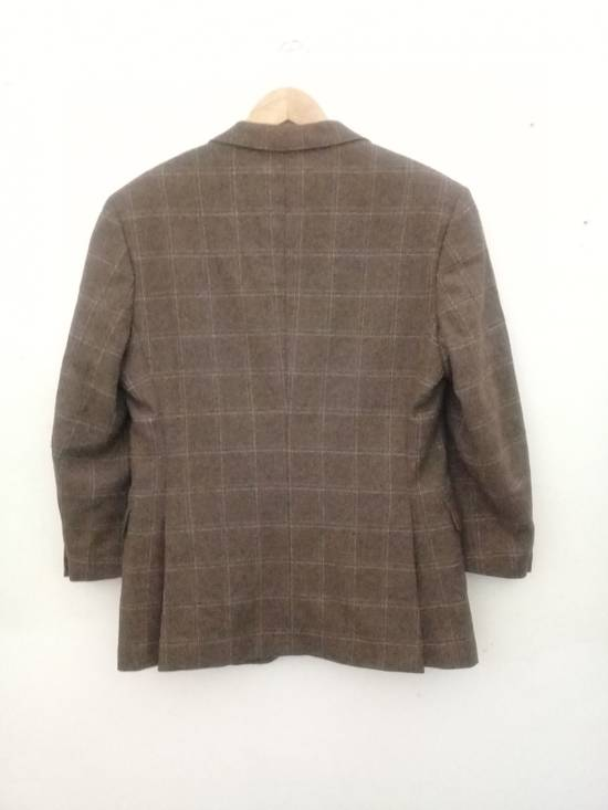 Givenchy Givenchy Gentleman Selection Couture Wool Cashmere Brown Plaid Blazer Size 46R - 17