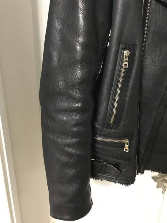 Balmain Black Shearling Leather Biker Jacket Size US M / EU 48-50 / 2 - 4