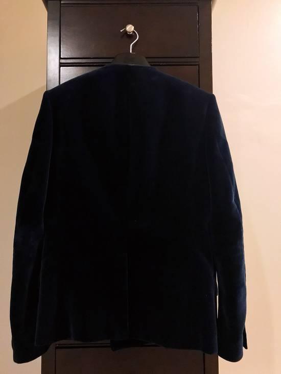 Balmain Balmain Blue Velvet Blazer Size 46R - 1