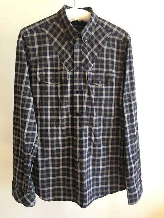 Givenchy Checked Cotton Shirt Size US M / EU 48-50 / 2