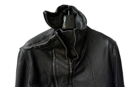 Julius JULIUS _7 ma high neck black lamb biker jacket slim fit Japan Size US S / EU 44-46 / 1 - 9