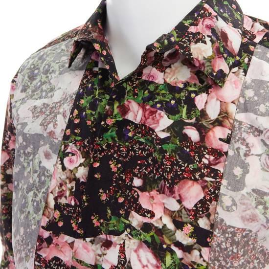 Givenchy GIVENCHY Pre14 reversed panel rose floral digital print cotton shirt US40 FR50 Size US M / EU 48-50 / 2 - 9