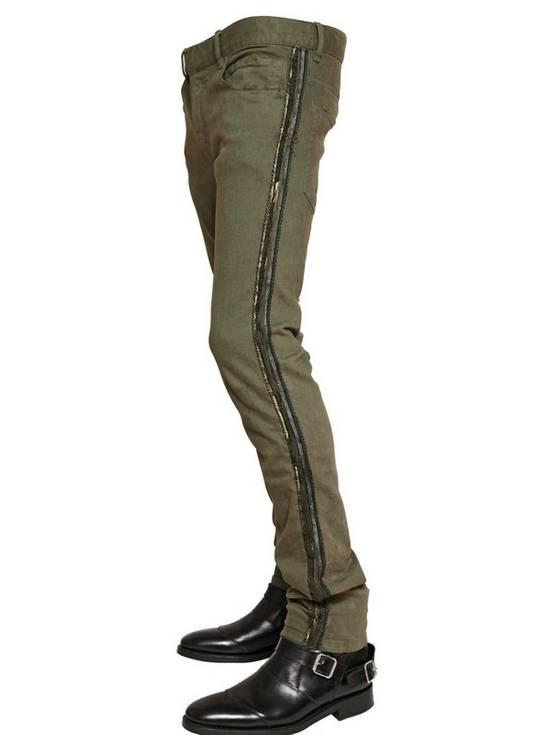 Balmain Khaki Jeans With Trim Piping Size US 32 / EU 48