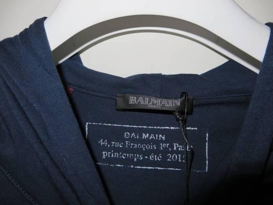 Balmain Panelled cotton biker hoodie Size US XS / EU 42 / 0 - 3