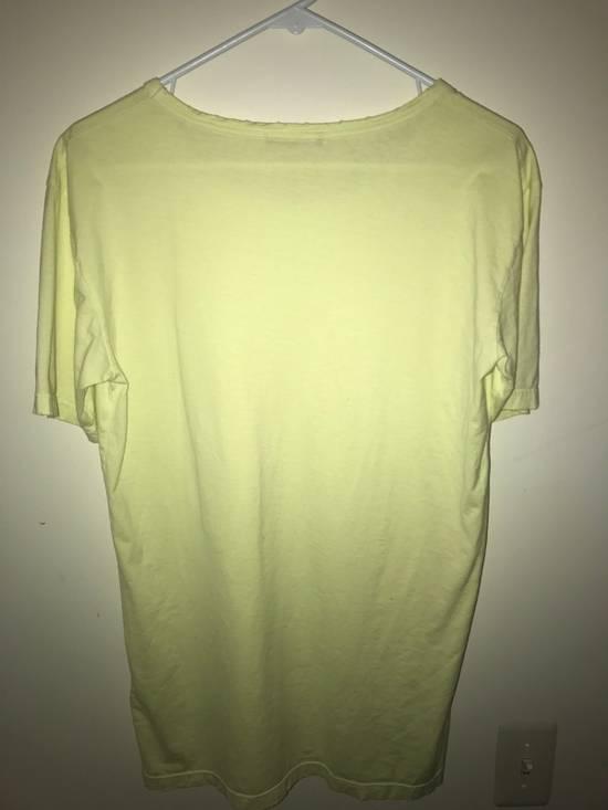 Balmain Balmain Lime Green Distress Tee Size US M / EU 48-50 / 2 - 4