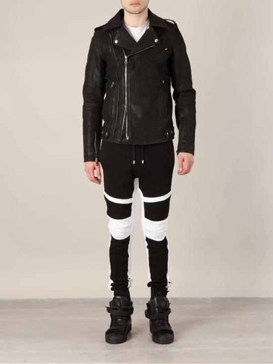 Balmain Waxed denim perfecto biker jacket Size US M / EU 48-50 / 2