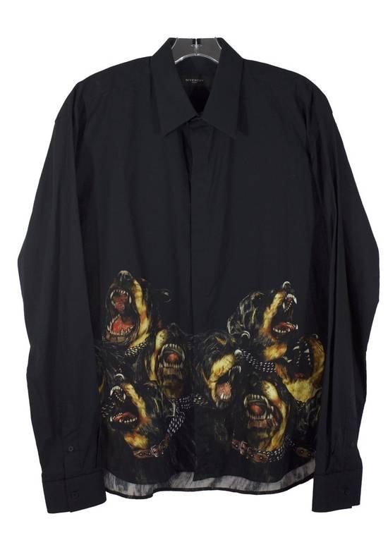 Givenchy Black Rottweiler Button-Up Shirt Size US M / EU 48-50 / 2