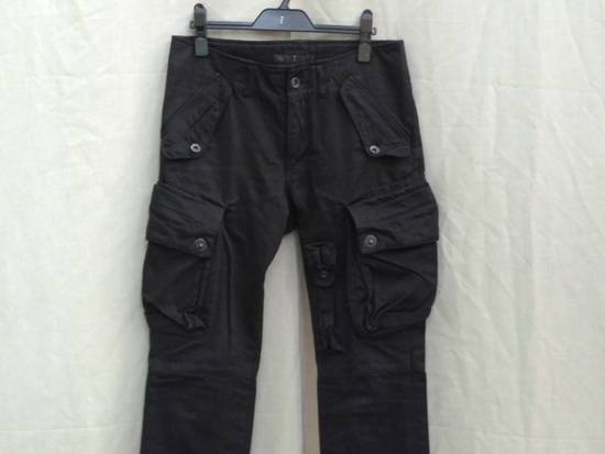 Julius FW09 Black Slim Gas Mask Cargo Pants Size US 30 / EU 46 - 2