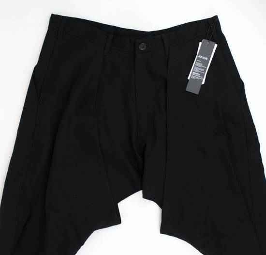 Julius 7 Black 'Slim Drop Crotch' Slim Fit Casual Pants Size 4/L Size US 36 / EU 52 - 3