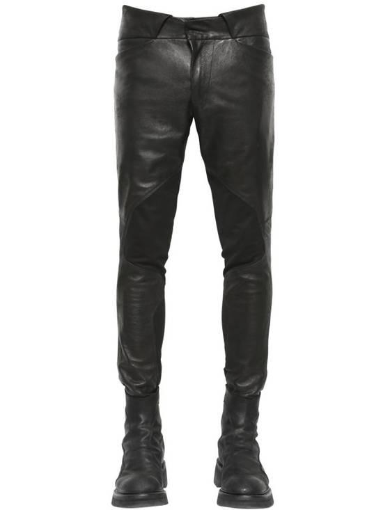 Julius Knee Paneled Leather Biker Pants Size US 30 / EU 46