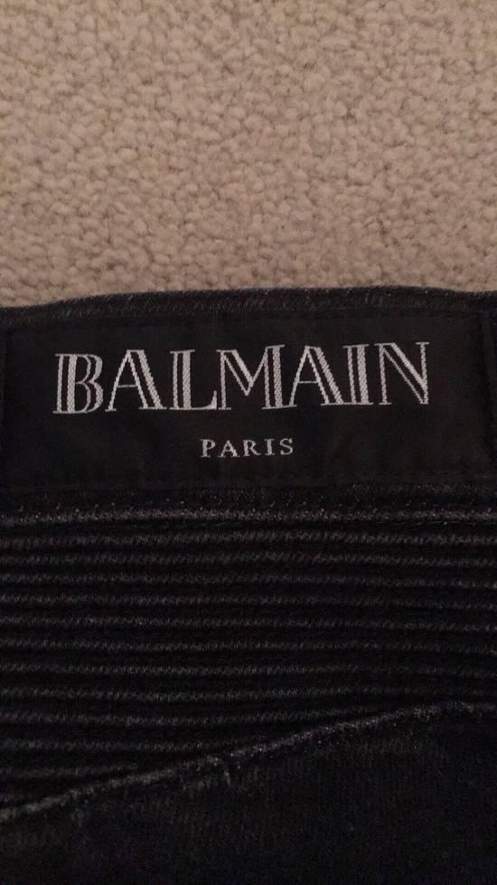 Balmain Black Skinny Biker Jeans Size US 32 / EU 48 - 5