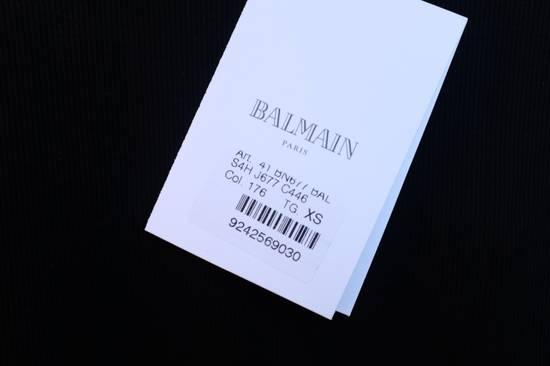 Balmain Black Ribbed Knit T-shirt Size US XS / EU 42 / 0 - 6