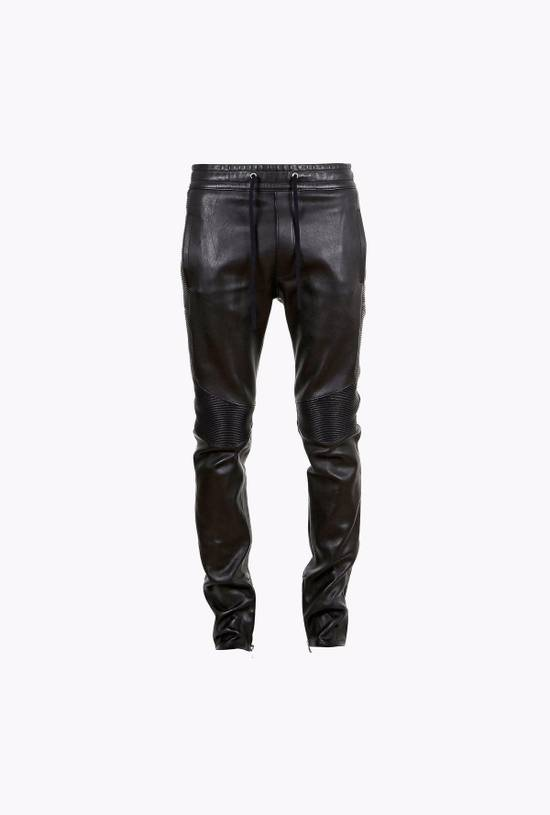 Balmain Slim Fit Biker Style Leather Sweatpants Size US 34 / EU 50