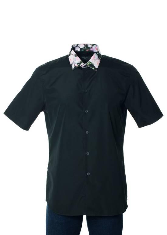 Givenchy Givenchy Men's Black Polo W/ Floral Collar Size US S / EU 44-46 / 1