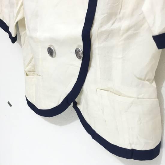 Balmain PIERRE BALMAIN PARIS Double Breasted Made In ITALY White Blouse Jacket Blazer Size 36S - 4