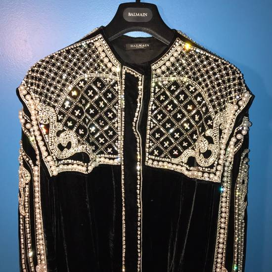 Balmain Balmain Fall 2012 Swarovski Crystal & Pearl Jacket Size US XL / EU 56 / 4 - 4
