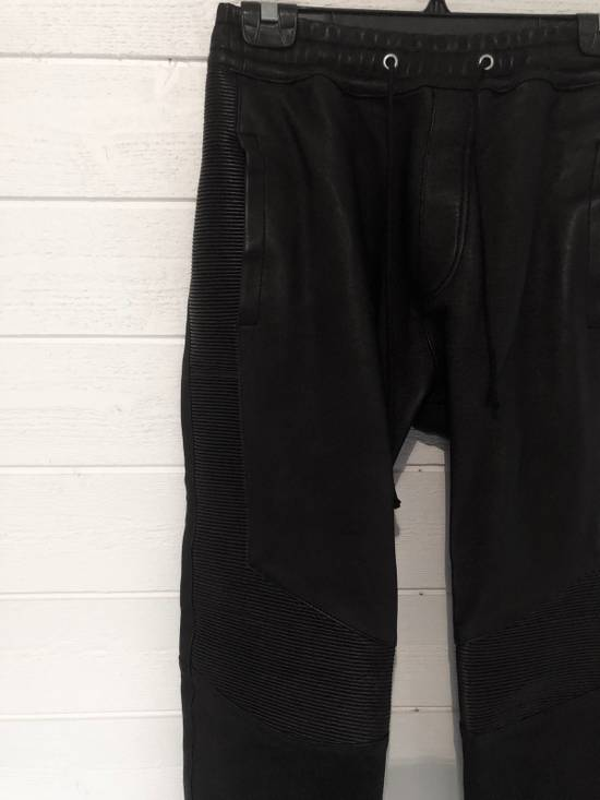 Balmain Leather Sweatpants Size S Size US 30 / EU 46 - 1