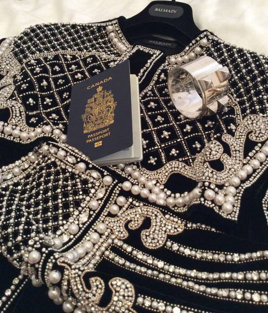 Balmain Balmain Fall 2012 Swarovski Crystal & Pearl Jacket Size US XL / EU 56 / 4 - 12