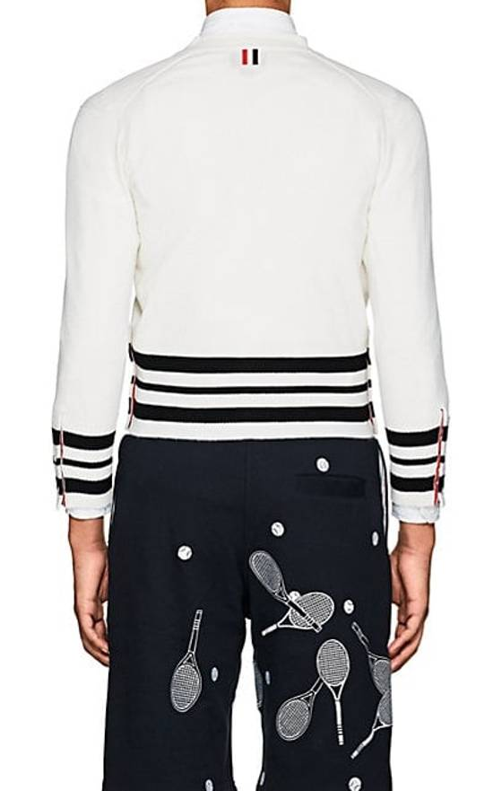 Thom Browne Cricket-Striped Cashmere Cardigan NEW Size US XL / EU 56 / 4 - 3
