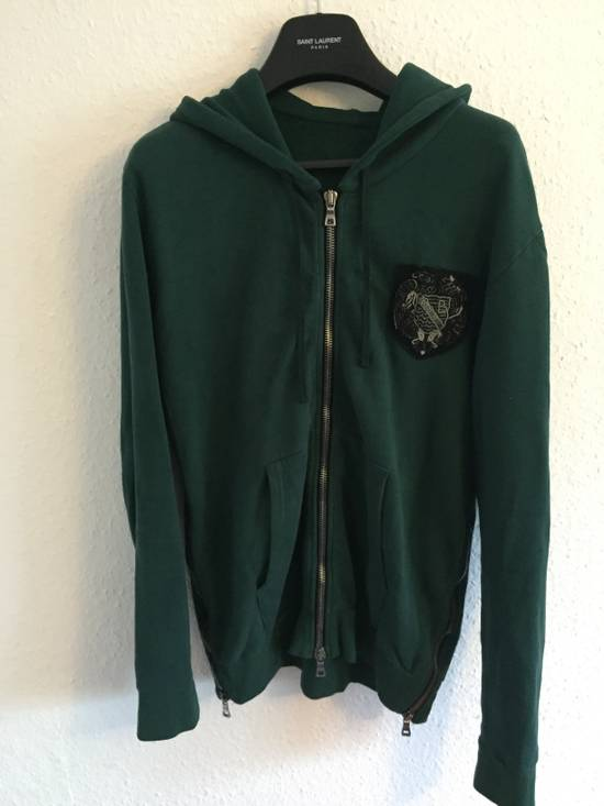 Balmain SS12 Forest Green Badge Hoodie size Large Size US L / EU 52-54 / 3 - 1