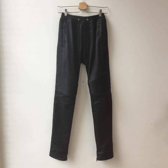 "Balmain Leather ""Joggers"" Size US 30 / EU 46"