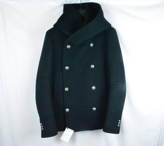 Balmain Black Peacoat Oversize Hood Wool Duffle 52 50 42 Black $4,889 New Size US L / EU 52-54 / 3