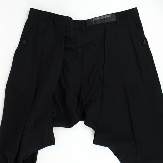 Julius 7 Black 'Slim Drop Crotch' Slim Fit Casual Pants Size 4/L Size US 36 / EU 52 - 4