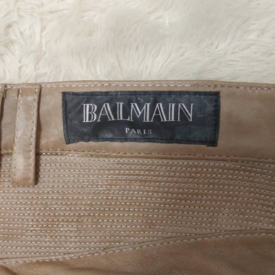 Balmain Authentic Balmain Leather Biker Jean Size US 28 / EU 44 - 6