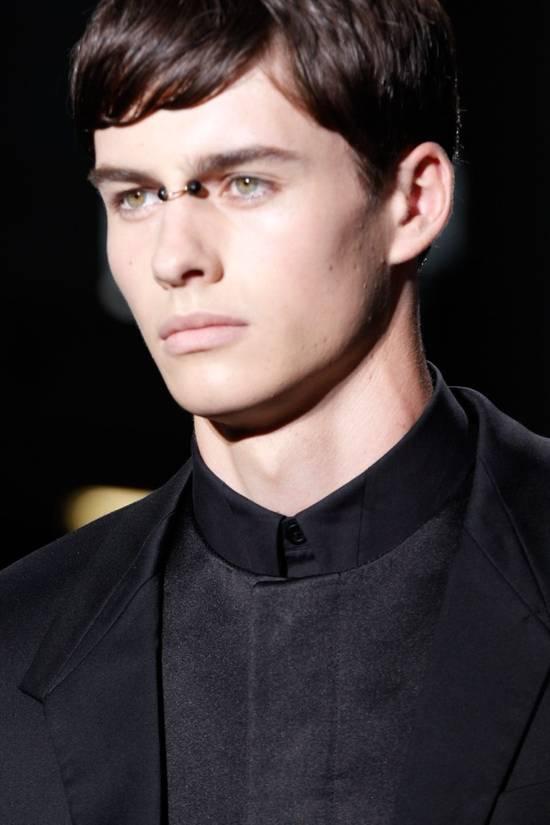 Givenchy SS13 BLACK COLLAR DETAILED SHIRT Size US XS / EU 42 / 0 - 4