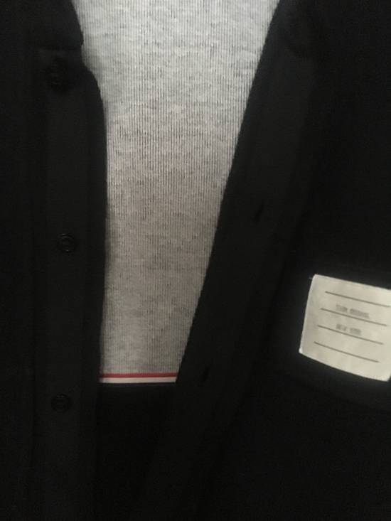 Thom Browne Black Shawl Collar with Grogain & RWB detail Size US S / EU 44-46 / 1 - 3