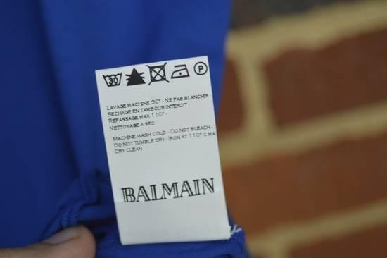 Balmain Blue Distressed T-shirt Size US M / EU 48-50 / 2 - 5
