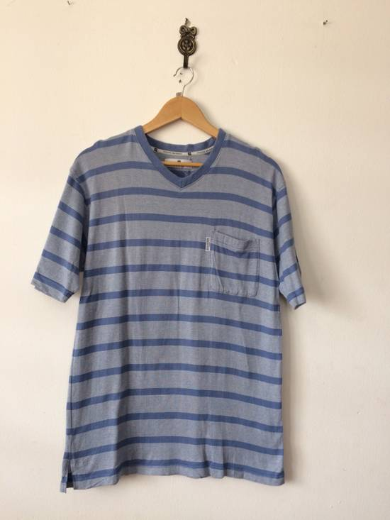 Balmain RARE PIRRE BALMAIN V-NECK SHIRT SINGLE POCKET STRIPED DESIGNER FASHION SIZR MEDIUM Size US M / EU 48-50 / 2