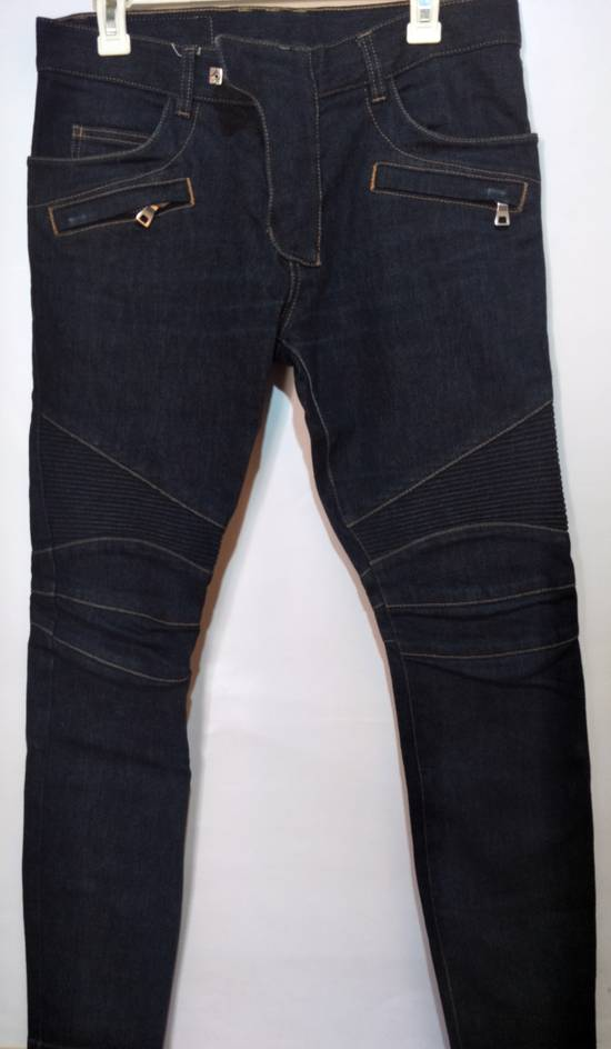Balmain Vintage Balmain Paris Biker Blue Jeans Like New Size US 31